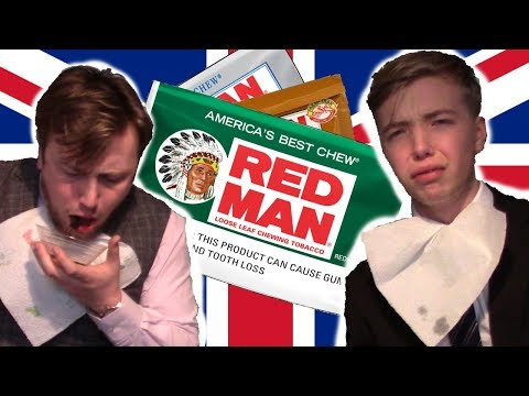 BRITISH LADS TRY AMERICAN CHEWING TOBACCO! *DISGUSTING*