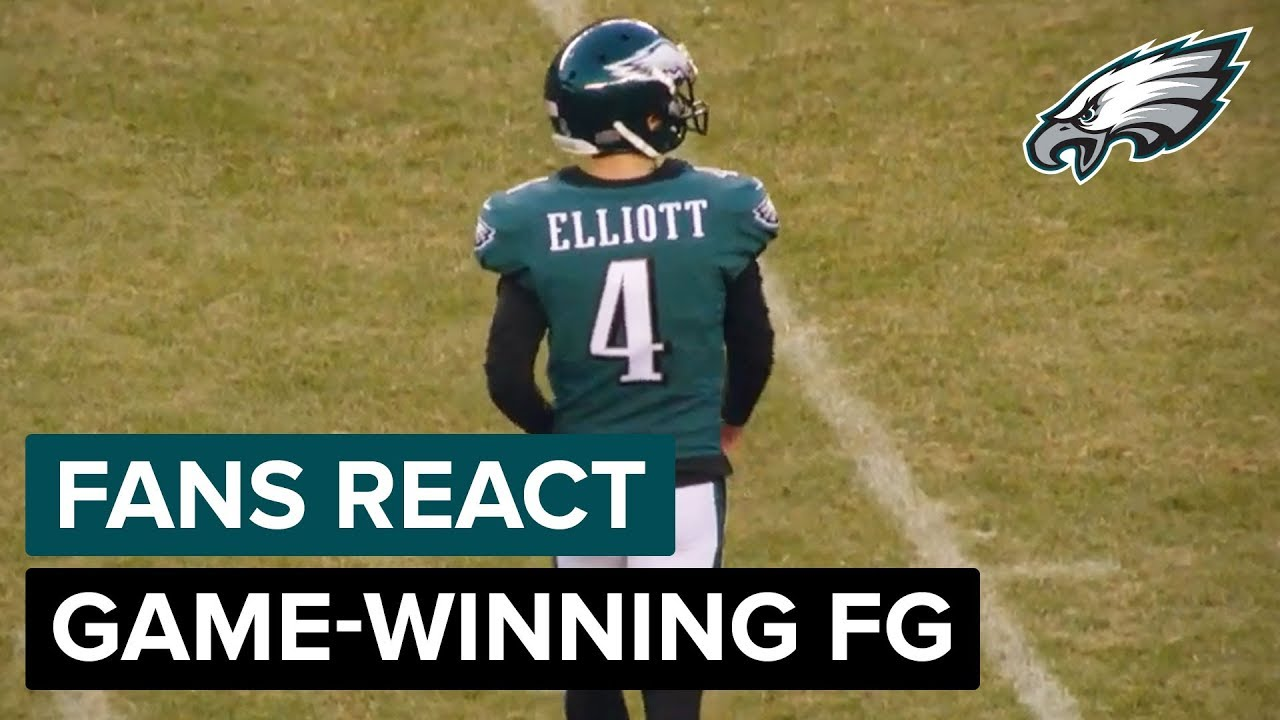 low cost 72dcf ad7a0 Fans React to Jake Elliott's Game-Winning FG vs. Texans   Philadelphia  Eagles