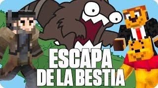 ¡ESCAPA DE LA BESTIA!   Minecraft Con Exo y Luh en OLIMPOCRAFT