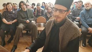 Концерт Монаха Авеля в Москве в Воскресной Школе храма Святых Бориса и Глеба