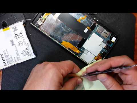 Xperia™ Z Ultra меняем дисплейный модуль