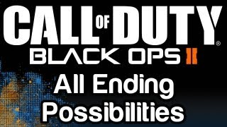 Call of Duty: Black Ops 2 - All Ending Possibilities (Perfect Ending, Kill Menendez, Spare Menendez, Woods Lives, Woods Dies)