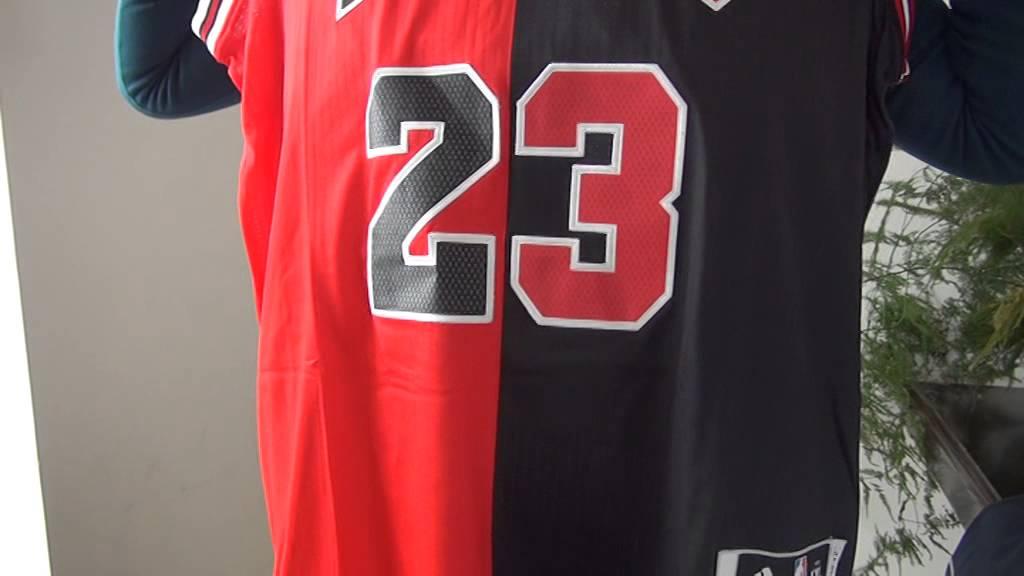 check out 7596a 2cd84 Fashion Split Michael Jordan #23 Chicago Bulls Jersey review