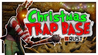 Trapping GEARED PLAYERS in a CHRISTMAS SHOP - Rust Trap Gameplay