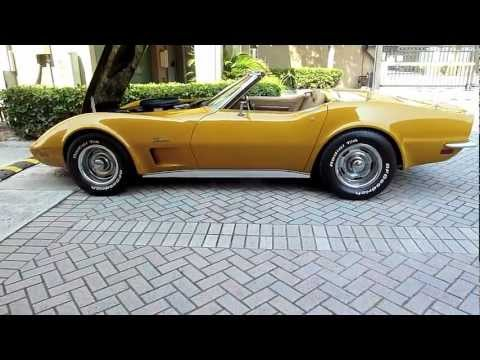 1973 CORVETTE CONVERTIBLE 454 4SPEED AC ALL MATCHING NUMBERS! BEAUTIFUL RIDE! FOR SALE!