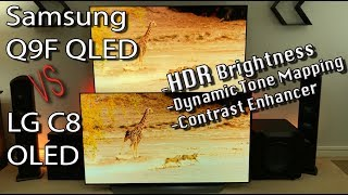 LG OLED vs Samsung QLED 2018 TV Comparison HDR / Contrast [4K]