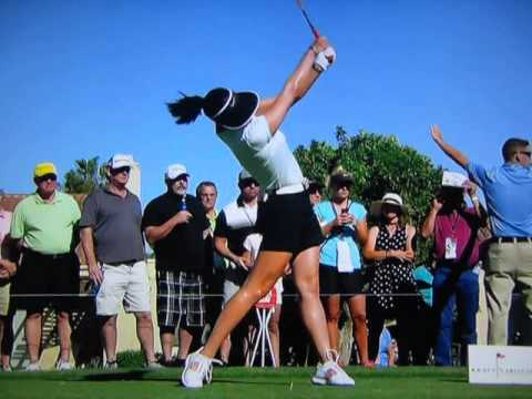 Michelle Wie - 100% Full Out Driver Swing (Extreme Slow ...