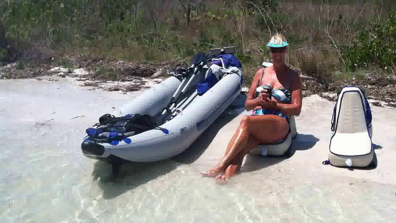 Sea Eagle Paddle Ski Inflatable Kayak Electric Motor Mount