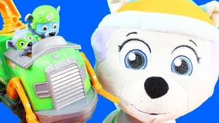 Humongous Paw Patrol Kids Toy Collection Mashems + Rocky's Tugboat + Chase's Sea Patrol Beach Tower