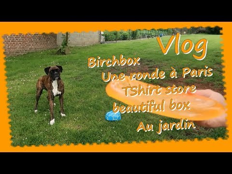Vlog ... Birchbox Une ronde à Paris Ts store Beautiful box Jardin