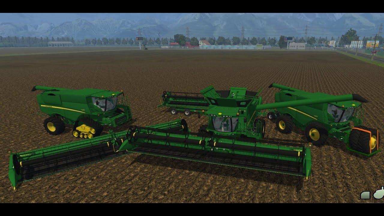 Farming Simulator 2013 Mods - John Deere S680 & S670 - YouTube