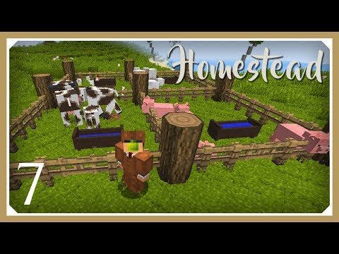 Minecraft Homestead Modpack | Leather Armor & Animania! | E07 (Hardcore Survival 1.10.2 Let's Play)