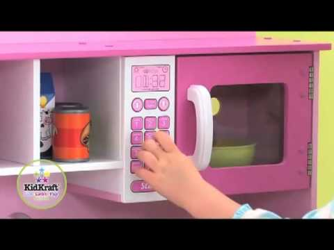 KidKraft Home Cooking Kitchen 53198 Girls Pink Play Toy