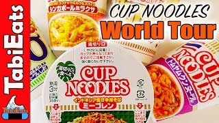 TRYING RAMEN CUP NOODLES from Around the World! FOOD REVIEW