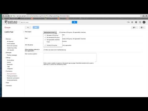 Google Groups Advance Settings