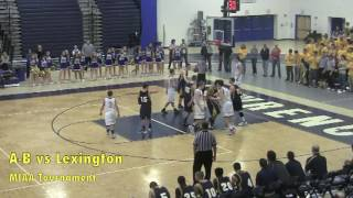 Acton Boxborough Varsity Boys Basketball vs Lexington 3/8/12