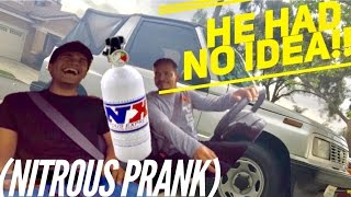 We Installed Nitrous (prank) in My Dads Car (Geo)  Without Him Knowing