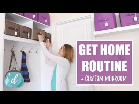 GET-HOME ROUTINE | Custom Mudroom Ideas & Tips