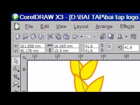 VẼ LOGO BẰNG PHẦN MỀM COREL DRAW X3