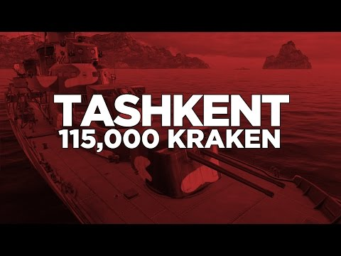 World of Warships -Tashkent 115,000 Kraken