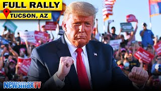 Trump confronts left wing media and the DC swamp during Tucson, AZ rally