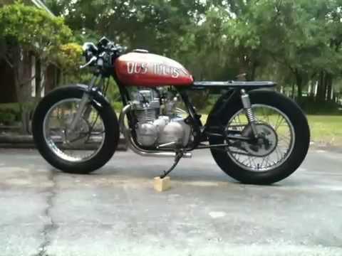 1975 kz400s cafe racer - 1st run - youtube