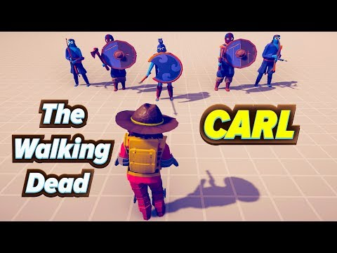 TABS - Carl (Walking Dead ) Vs Units ! - Totally Accurate Battle Simulator