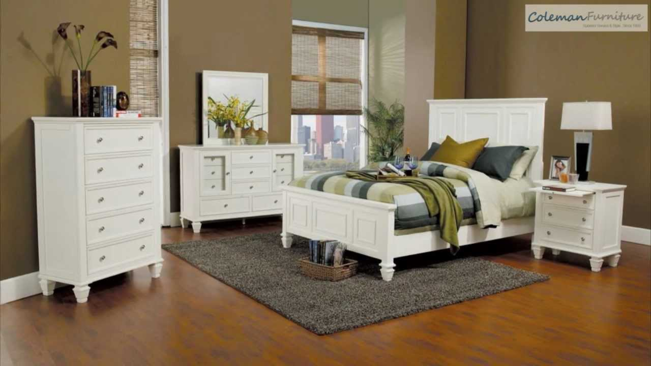 Sandy Beach White Panel Bedroom Collection From Coaster Furniture ...
