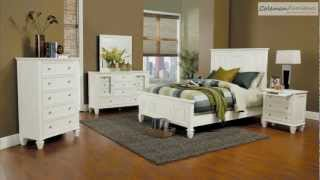 Sandy Beach White Panel Bedroom Collection From Coaster Furniture