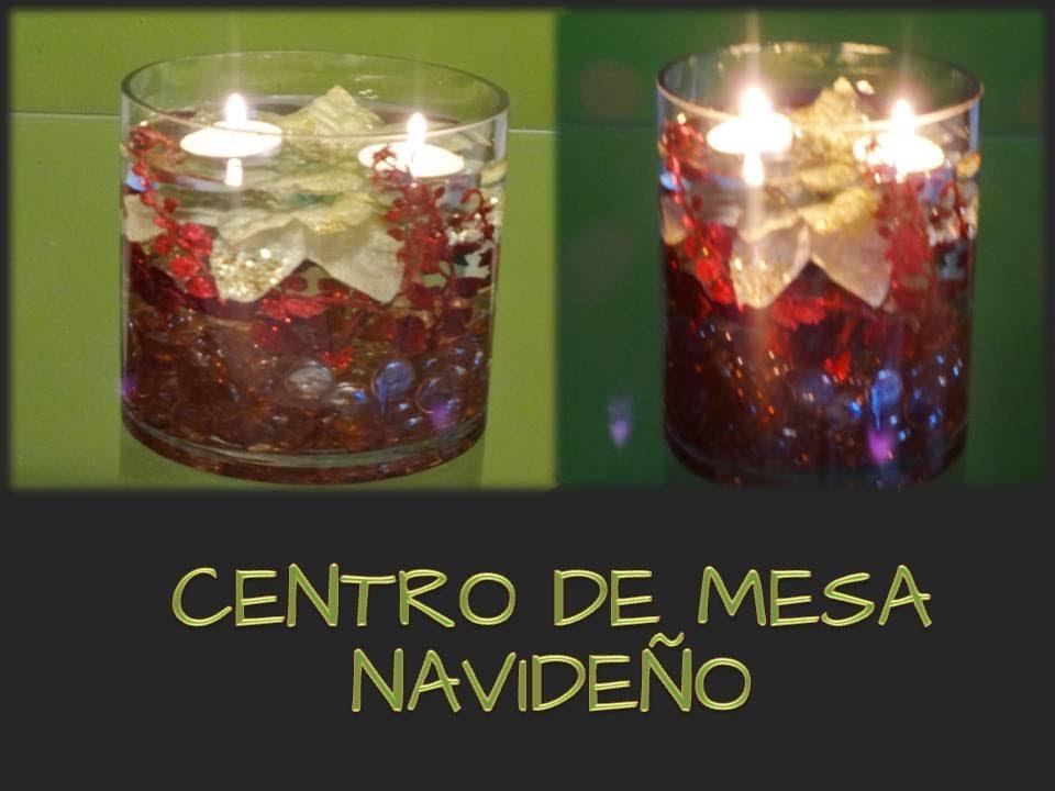 Centro de mesa navide o manualidades de navidad youtube - Youtube centros de mesa navidenos ...