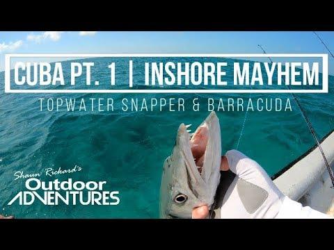 Cuba Pt. 1 | Inshore Fishing | Topwater Snapper & Barracuda | Cayo Coco, Paradon & Cayo Guillermo