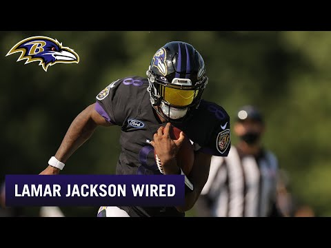 Lamar Jackson Wired for Training Camp Practice | Baltimore Ravens