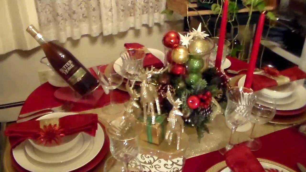 Elegant Christmas Tablescape Youtube