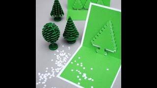 Học ngay cách làm thiệp Giáng Sinh 3D cực sáng tạo