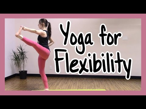 Yoga For Flexibility 40 min- Yoga for Dancers, Gymnasts & Figure Skaters