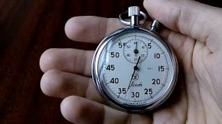 "Обзор советского секундомера ""Агат"". Review of the Soviet stopwatch ""Agate""."