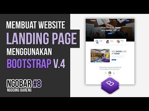 NGOBAR#8 : Membuat Website LANDING PAGE Menggunakan BOOTSTRAP Versi 4