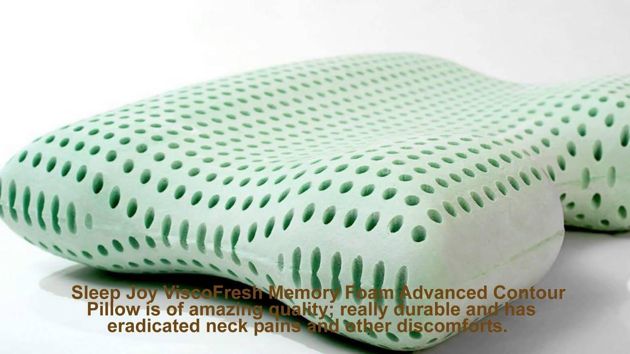 Sleep Joy ViscoFresh Memory Foam Advanced Contour Pillow ...