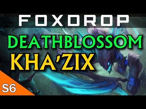 [S6] Deathblossom Kha'Zix Jungle Gameplay