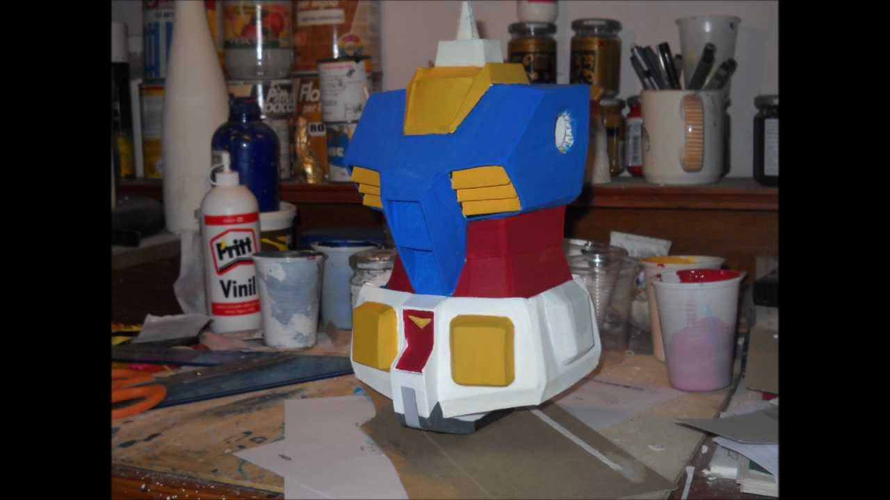 Papercraft Gundam paper model (tutorial)