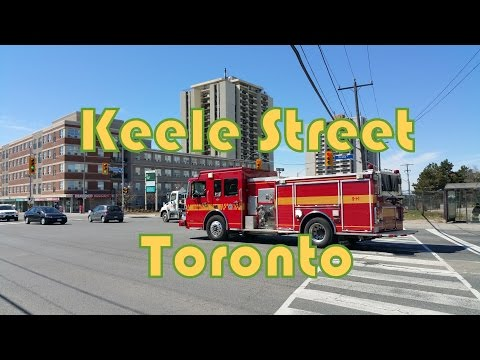 Keele Street from Wilson Avenue to Lawrence Avenue in Toronto