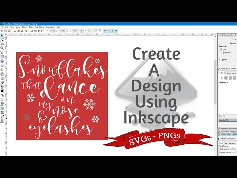 How To Create SVG/PNGs In Inkscape / Inkscape Tutorial