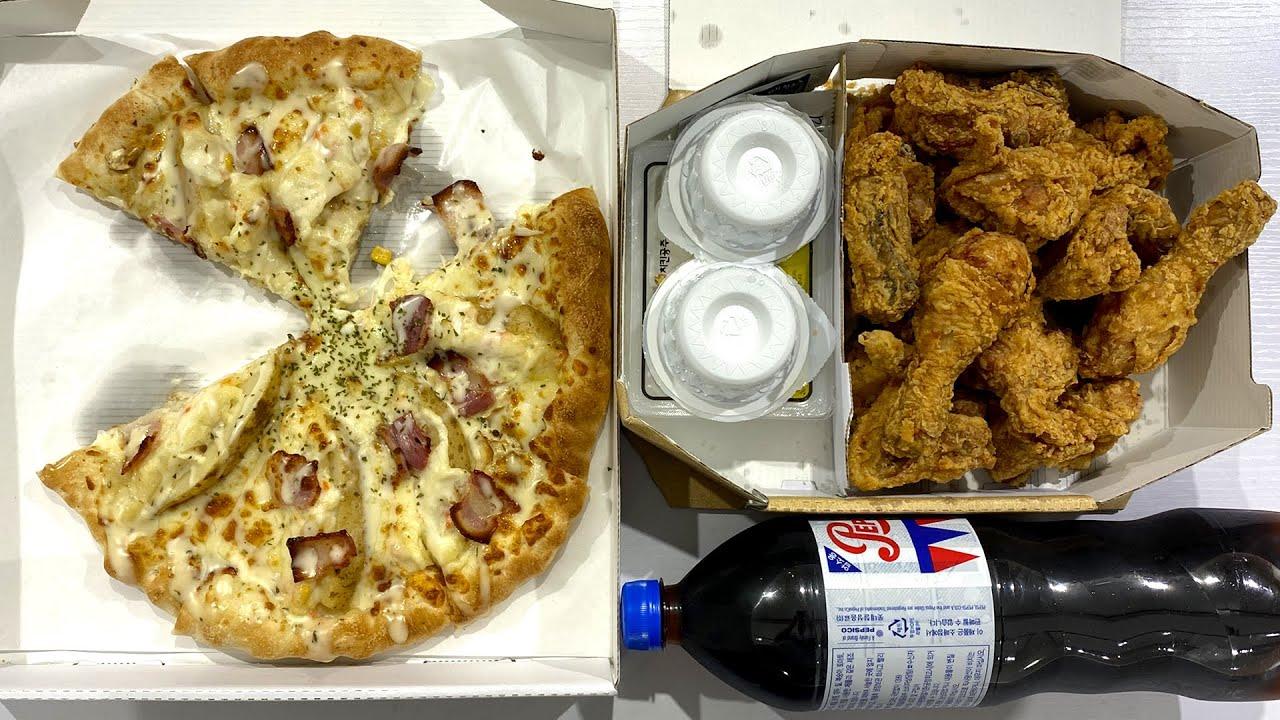 피자+치킨 세트 두 명이서 간식 아닌가요? (feat. 피자나라치킨공주)