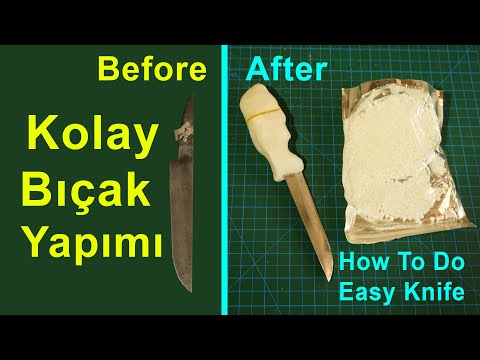 Kolay Plastik Kabzalı Bıçak Nasıl Yapılır? How To Do Easy Knife