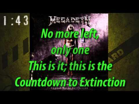 Megadeth - Countdown to Extinction (with Lyrics)