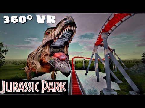 360° Jurassic Park VR Rollercoaster POV Movie themed Dino 360 도 롤러코스터 탐험 ジェットコースター