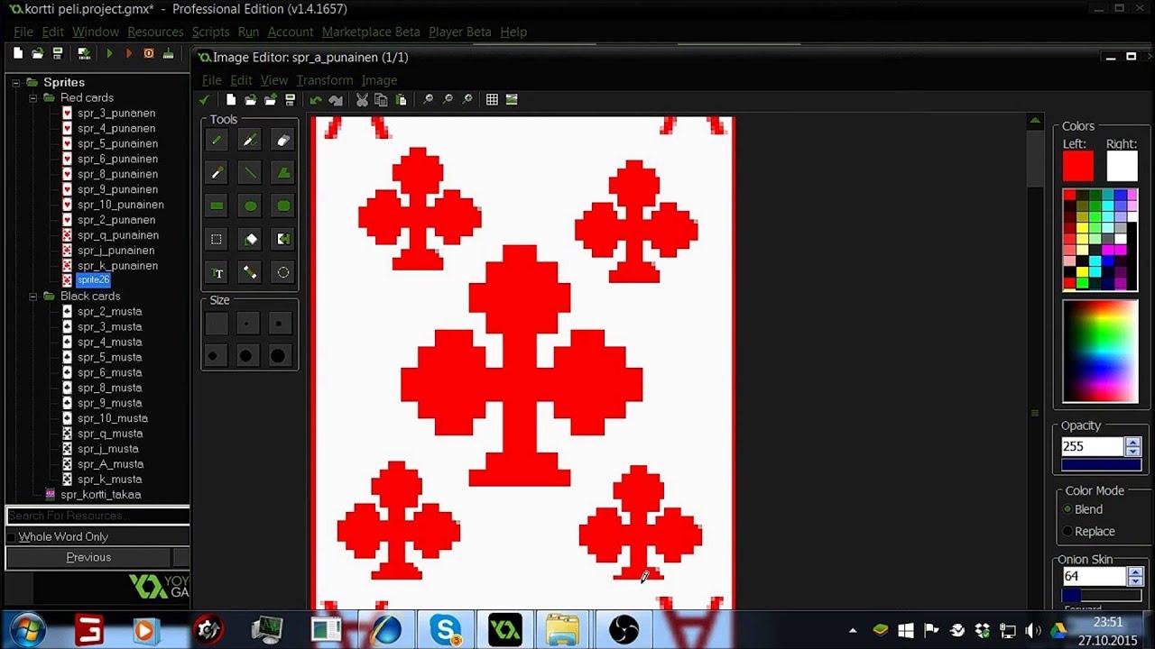 Game maker colors -  Game Maker Studio Part 1 Card Game Sprites
