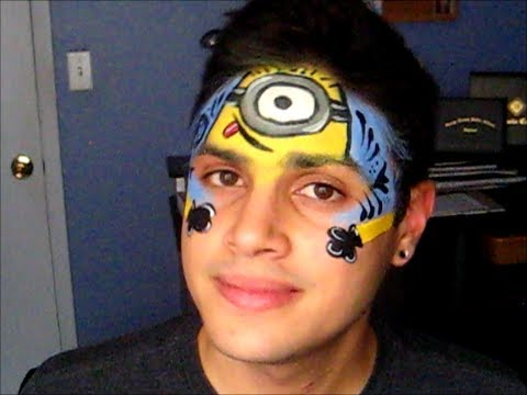 Despicable Me Minions Face Painting