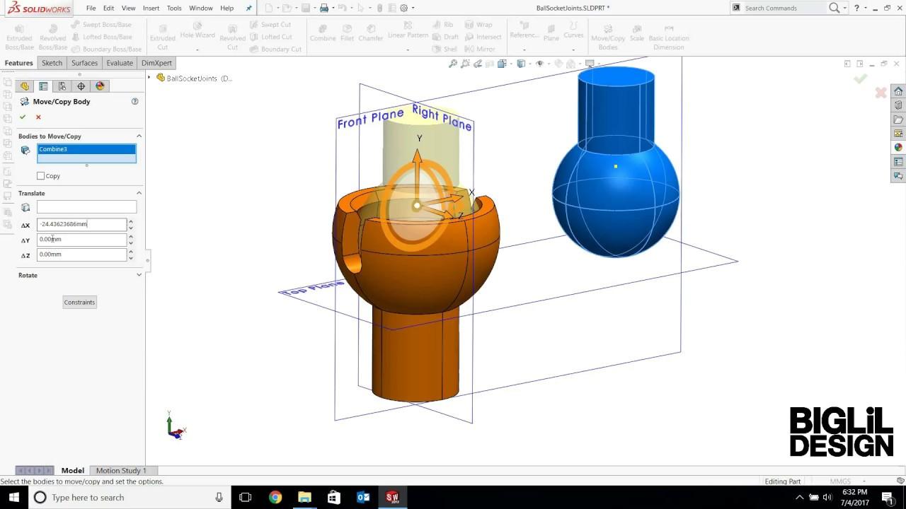 3d Modeling Tutorial Ball Socket Joints Youtube