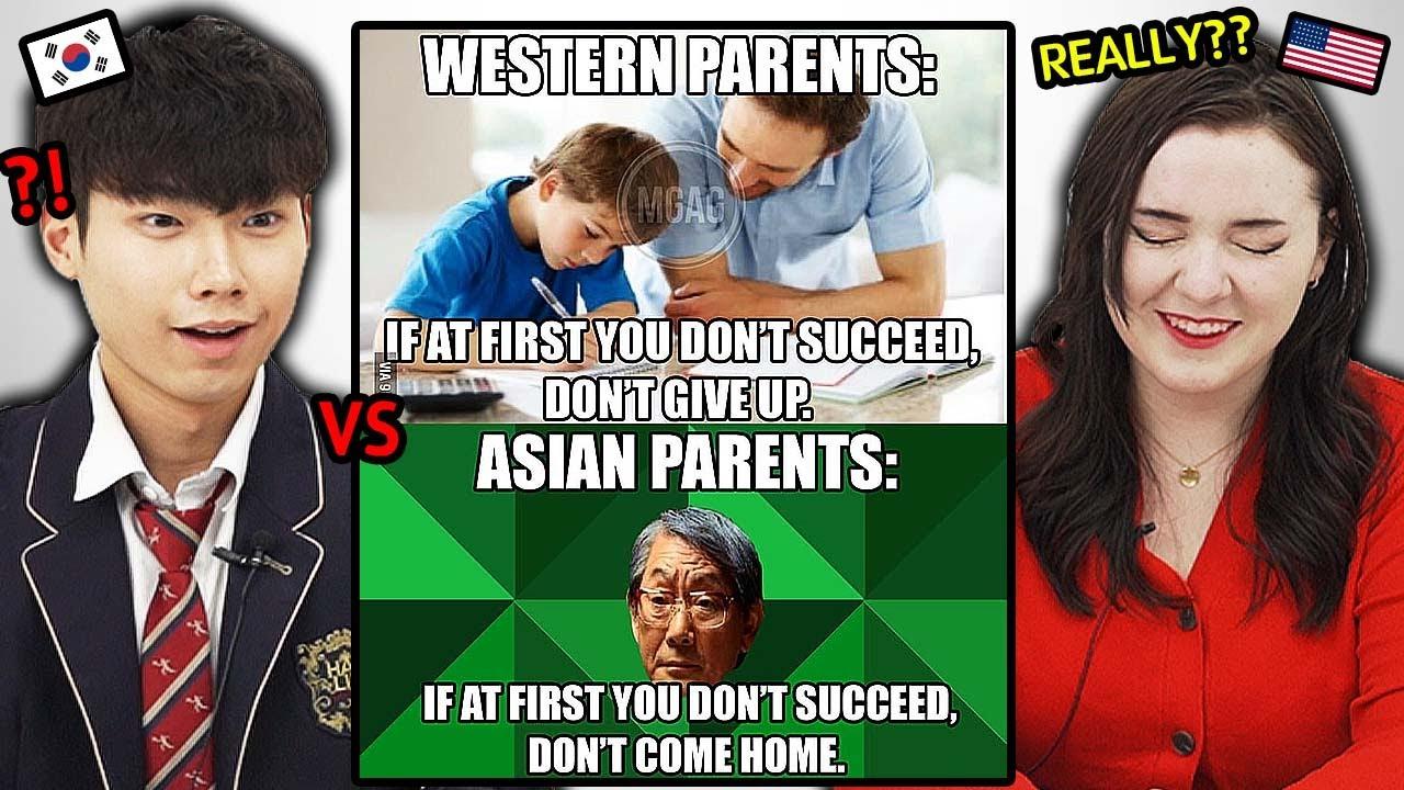 Download Asian Parents VS Western Parents, Korean & American Teens Reaction!!